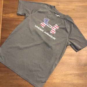 Under Armour American Flag Workout Tee